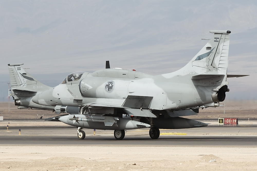 """A-4AR """"Fighthawks"""" which were upgraded with F-16 components."""