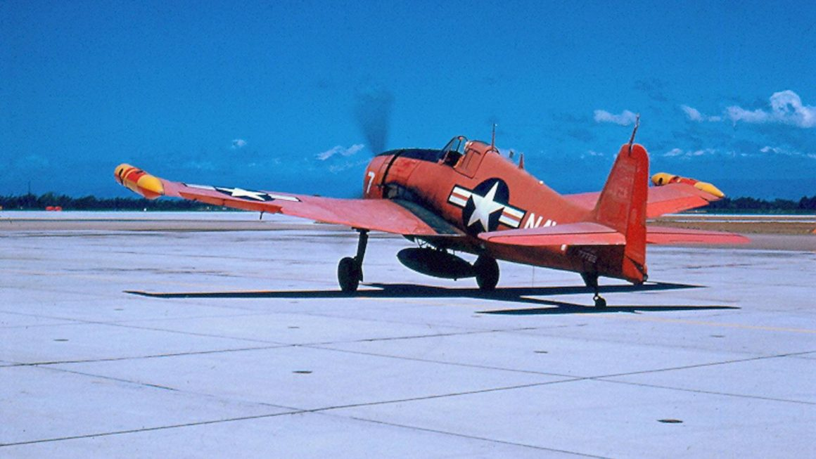 A F6F target drone that was supposed to be shot down during the Battle of Palmdale.